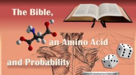 The Bible, an Amino Acid and Probability