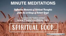 Minute Meditation Video Episode: Spiritual Food