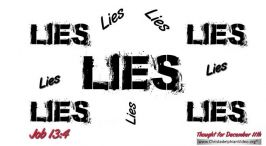 """Daily Readings & Thought for December 11th. """"YOU WHITEWASH WITH LIES"""""""