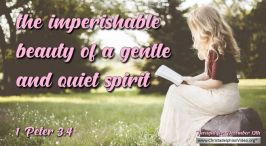"""Daily Readings & Thought for December 13th. """"IMPERISHABLE BEAUTY"""""""