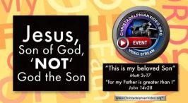 Jesus, Son of God  'NOT' God the Son.